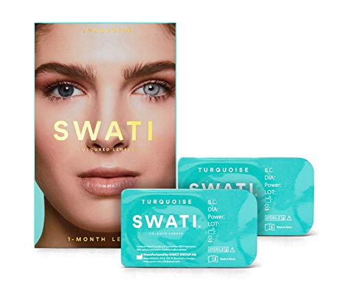 Turquoise (Türkis) - 1 Monate Kontaktlinsen Farbig - SWATI Cosmetics Natürlich Aussehende Kontaktlinsen
