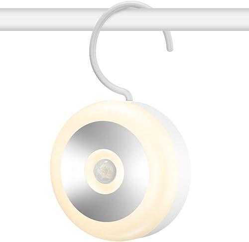 Night Light, Awehome Motion Sensor Light, Warm White LED, 600mAh USB Rechargeable, Smart Human Body Induction Wall Li...