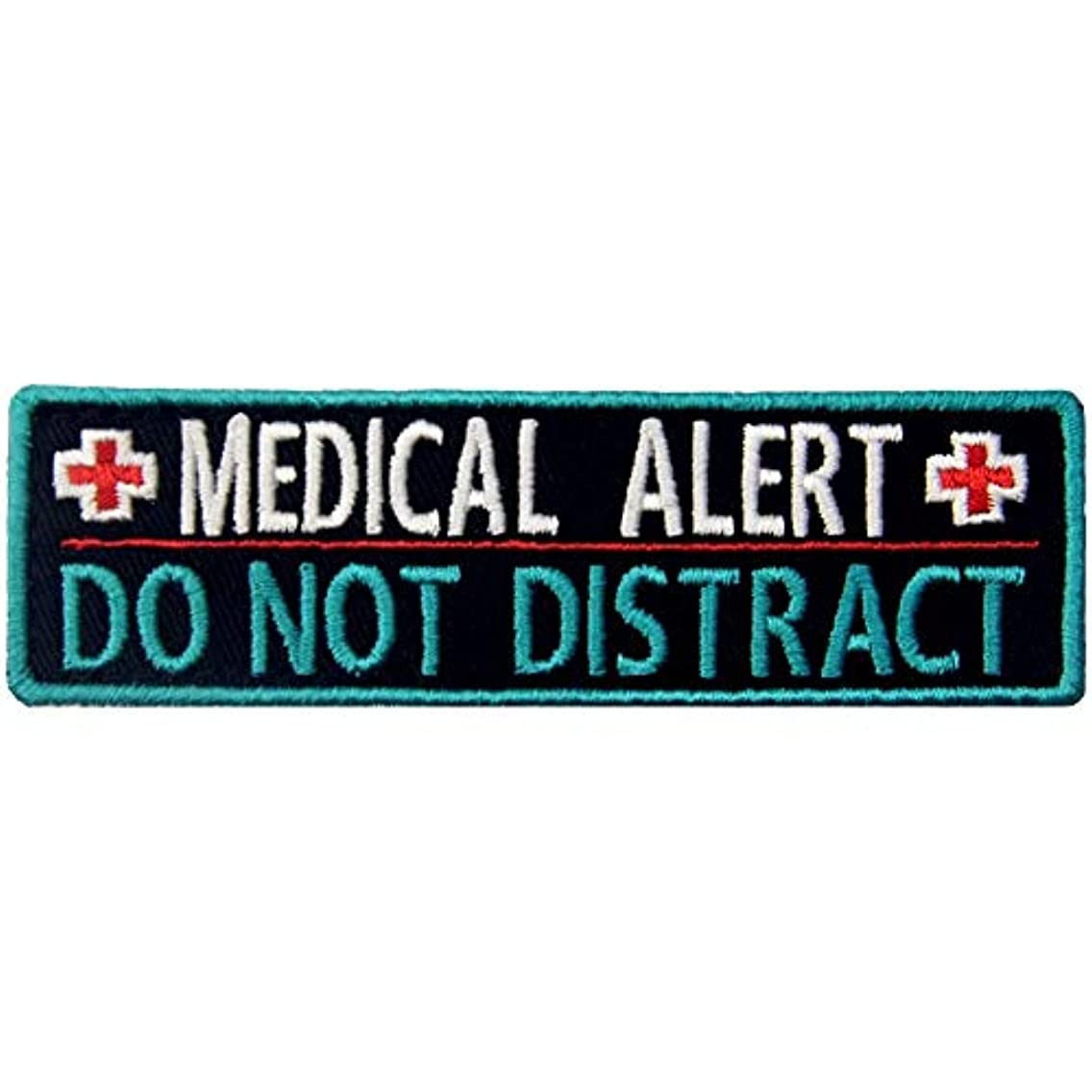 Service Dog Medical Alert Do Not Distract Patch Morale Tactical Vests/Harnesses Emblem Embroidered Applique Fastener Hook & Loop Pet Tags Patches for Small or Large Working Dogs (Medical Alert)