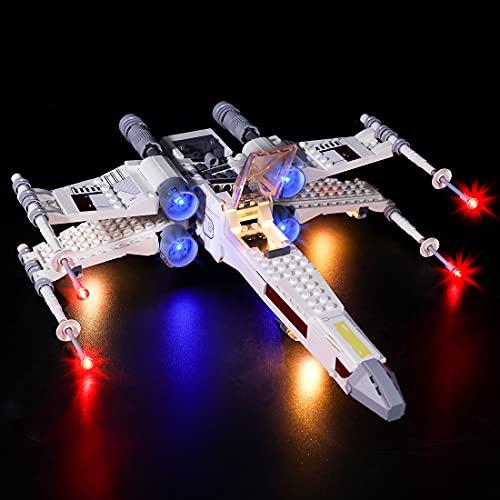 LYCH Juego de iluminación LED para Lego Star Wars Luke Skywalkers X-Wing Fighter, iluminación compatible con LEGO 75301, sin juego de Lego