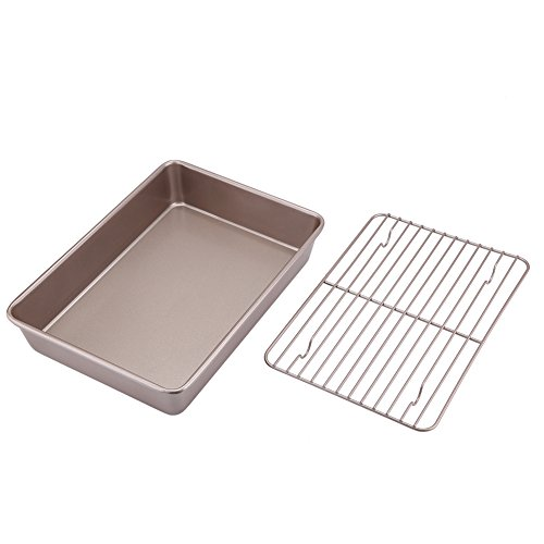 East purchase – Baking Tools Set – 2pcs 13inch Bakeware Natural Aluminum Commercial Cookie Baking Tools Set Golden