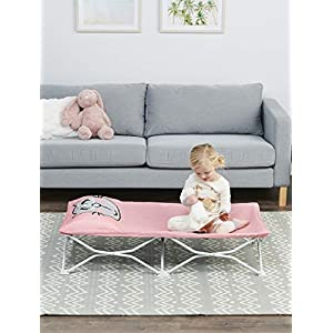 Regalo My Cot Pals Small Single Portable Toddler Bed , Cat, Pink