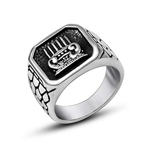 LINYIN Joyería Personalizada Tendencia Anillo Moda Titanium Steel Ring Individual para Hombres Anillo único de Titanio Beauty Wai 7