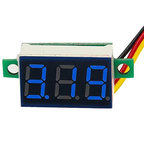 HaiQianXin digitale bloeddrukmeter, LED, voltmeter, DC100 V, meter, 3 draden, kleur: blauw
