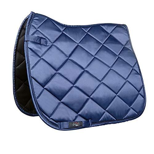 HKM Bergamo Tapis de selle Bleu foncé Taille poney dressage