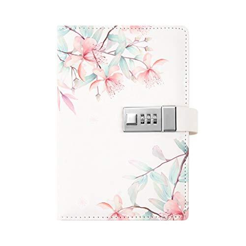 Boji Libreta de contraseñas de conteo manual simple y fresco, cuaderno de contraseña personal con bloqueo de contraseña, cuaderno creativo con contraseña