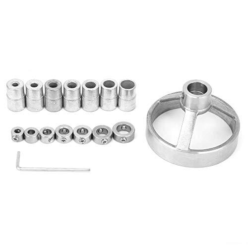 Kit de guía de perforación Posicionador de perforación de orificios rectos Perforadora de orificios para carpintería Localizador de accesorios de perforación vertical de acero(plata)
