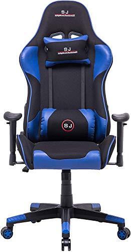 LD-Trend Gamingstuhl Chefsessel Bürostuhl Drehstuhl Sportsitz Schreibtischstuhl 618 Blau