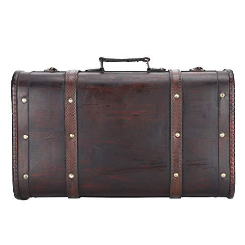 Maleta vintage, maleta decorativa, hermoso estilo antiguo portátil para estudio fotográfico hombres mujeres