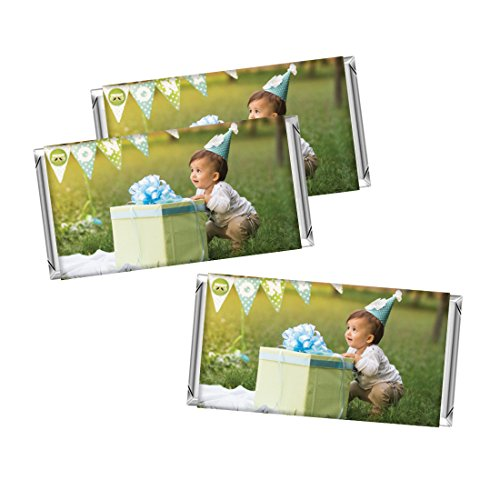 Andaz Press Bulk Photo Personalized Gift and Party Favors Collection, Chocolate Chocolate Bar Labels, Custom Photo, 10-Pack