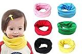 Richaa Bebé Pañuelos de Cuello Collar, Bufanda Niños Unisex Algodón A Prueba De Viento Multipropósito Cálido Pañuelo Cuello