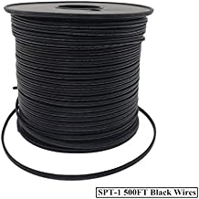 Asparkle Zip Cord UL listed 18 Gauge /2 SPT-1 Extension Elctrical Wire (spt1-500ft, Black)