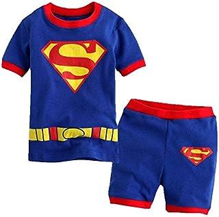 Superman Baby Boys Clothing Sets Children Kids Summer Pajamas Child Clothes