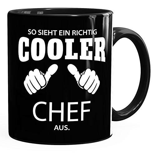 So sieht ein richtig ein richtig cooler Chef aus Tasse Berufe MoonWorks® schwarz unisize