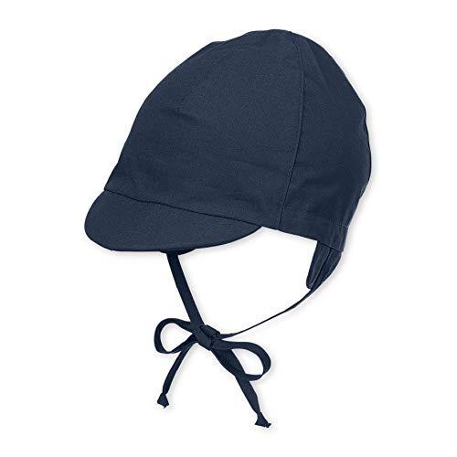 Sterntaler Sterntaler Schirmmütze mit Bindebändern, Alter: 3-4 Monate, Größe: 39, Blau (Marine)