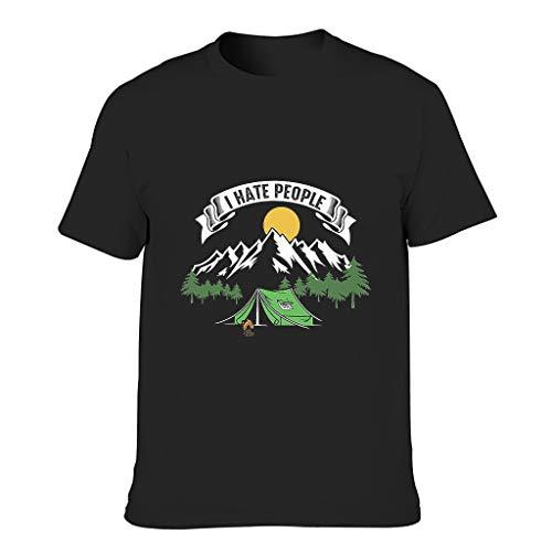 I Hate People - Camiseta casual con varios patrones para acampar, para novio o novias o familias