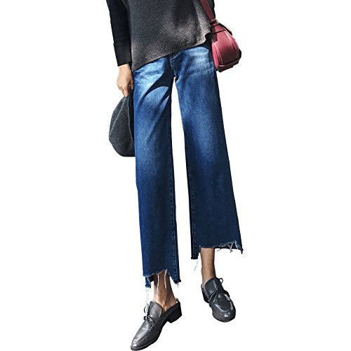 Olici MDRW-Wide Leg Broek Vrouw 9A11C Hoge Taille Jeans Vrouw Losse Dunne Zuster Negen Broek