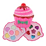 lahomia Kit de Maquillaje Lavable para Niños Paleta de Maquillaje de Moda Forma de Helado Niños Niñas Hacen - Blush de sombra de ojos