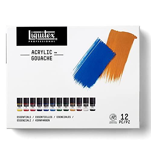 Liquitex Professional Acrylic Gouache 6 Color Paint Set