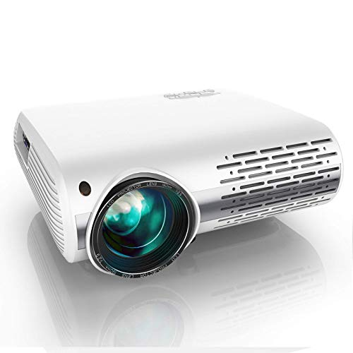 YABER Y30 Native 1080P Projector 7200L Full HD Video Projector 1920 x 1080 ±50° 4D Keystone Correction Support 4k amp ZoomLCD LED Home Theater Projector Compatible with PhonePCTV BoxPS4 White