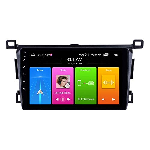 Ctzrzyt 10 Pulgadas 2 DIN Android 10.0 Car MP5 Player Radio 2 + 16GB WiFi NavegacióN GPS para RAV4 2013-2018