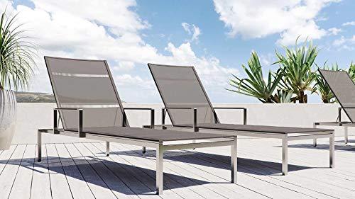ARTELIA Cairo M2 Edelstahl Gartenliege Set mit 2 Liegen Sonnenliege für Garten, Terrasse und Balkon, extrem hochwertige Premium Relaxliege aus Edelstahl,