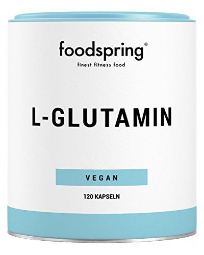 foodspring L-Glutamin Kapseln, 120 Stück, Vegan, Für optimale Regeneration nach dem Workout, Hergestellt in Deutschland
