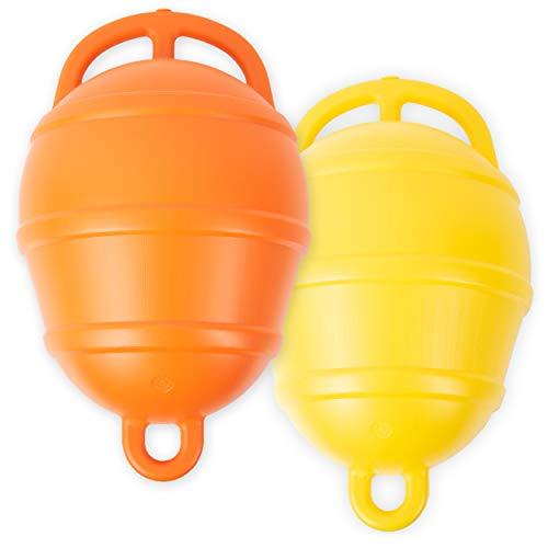 HonuNautic Mooring Anker Boje   250mm   Farbe: Orange   Ankerboje   Markierungsboje   Buoy