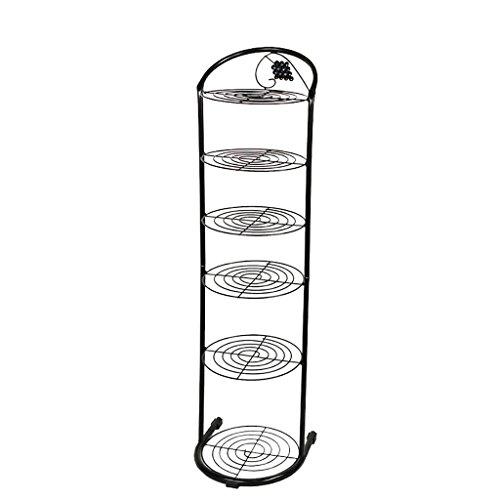 ZXL Schoenkast Schoenkast Organizer Rack Schuifdeurkast voor schuifdeur Opslagruimte voor ijzeren deur 6/8 niveaus zwart/wit (kleur: zwart, afmeting: 6 niveaus)