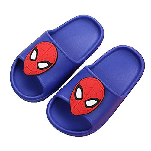 Xyh723 Niños Spider Man Chanclas Unisex Verano Playa Zapatillas Sandalias Niños Baño Jardín Zapatos Niños Niñas Superhéroe Piscina Zuecos,BlueB-160/15.8CM