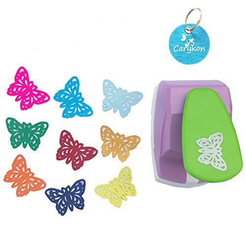 Carykon - Perforadora de papel con palanca de 5 cm Butterfly-Gorgeous