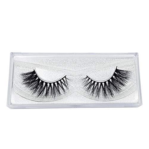 1 Paire Faux Cils 3D, Longs et Entrecroisés Naturel Réutilisable Cils Épais pour Maquillage