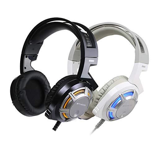 LALAHO Kabelgebundener Kopfhörer Headset Headset USB-Schnittstelle Desktop-Computer Notebook Subwoofer Free Drive 7.1 Kanal weiß