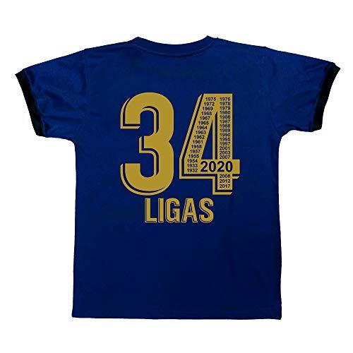 Real Madrid - 34 Ligas - Camiseta Réplica Autorizada - Ganadora en 2020 de 34 Ligas - Todos los Años Mentionados