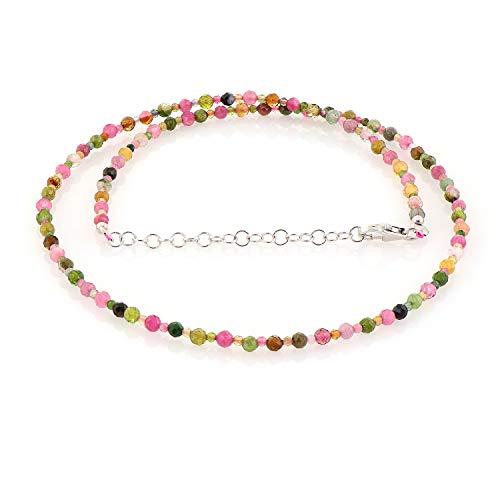Collar turmalina natural sandía turmalina piedra preciosa diseñador joyería super calidad multi turmalina regalo para mamá regalo de cumpleaños