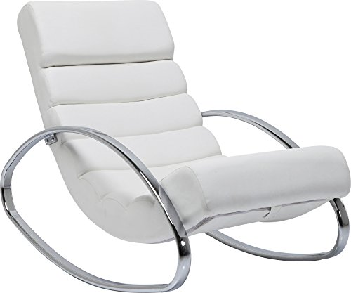 Fauteuil Rocking Chair Manhattan blanc Kare Design