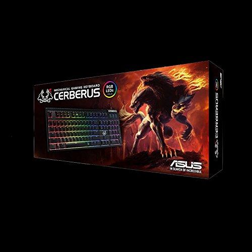Asus Cerberus Tastiera Meccanica con illuminazione RGB, Aura Sync Gaming con Registrazioni Macro [Layout Italiano]