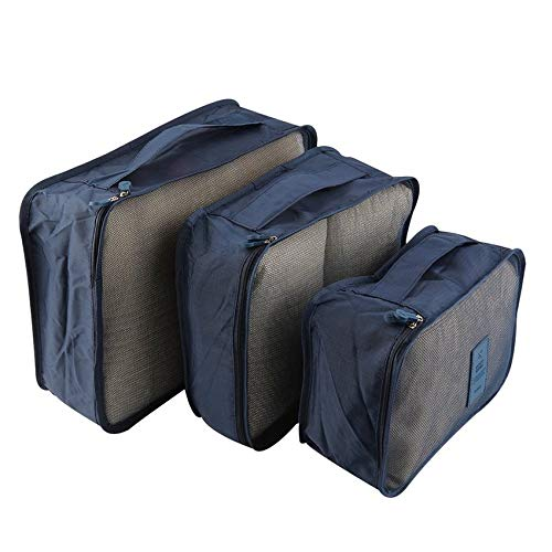 6pcs/Set Portable Waterproof Clothes Storage Bag Packing Cube Travel Luggage Organizer Durable Clothes Sock Bra Storage Bag