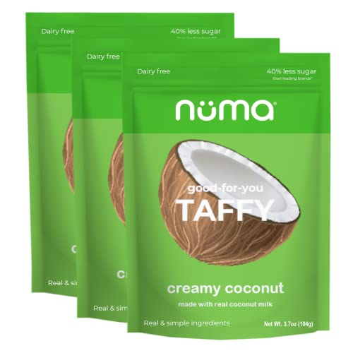 Healthy Creamy Coconut Chewy Candy – Dairy Free, Low Sugar, Low...