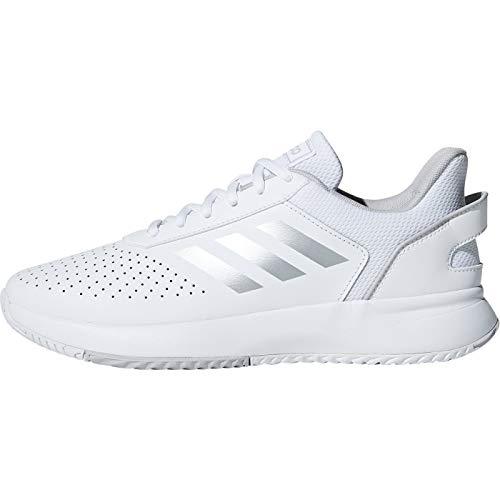 adidas Damen Courtsmash Fitnessschuhe, Weiß (Ftwbla/Plamat/Gridos 000), 40 2/3 EU