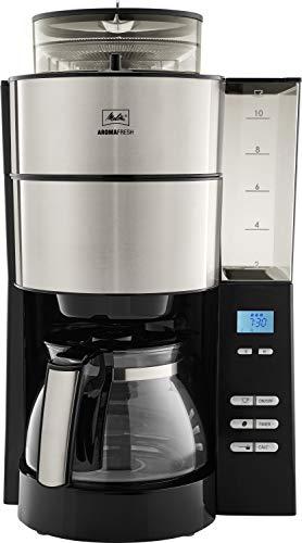 Melitta AromaFresh 1021-01 ekspres do kawy z wbudowanym mechanizmem mielącym, ok. 10 filiżanek, czarny