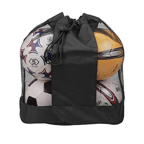 IPENNY - Red para balones de fútbol, baloncesto, voleibol, fútbol, bolsa de red grande de baloncesto, bolsa de deporte al aire libre