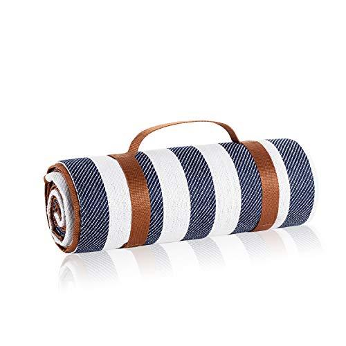 BL Picnic Picnic Blanket 70quot x 80quot Blue Round