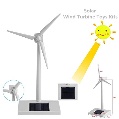 Acogedor Solar Windmill Toys Solar Energy Children Science Teaching Tool,Solar Toys for Kids for Education or Fun,Child Birthday Gift