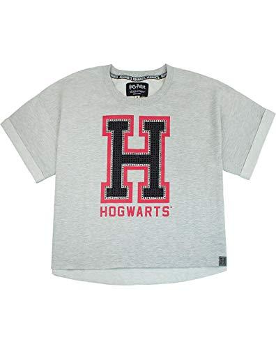 HARRY POTTER Hogwarts Alumni Womens/Ladies Cropped T-Shirt Sizes S-XL