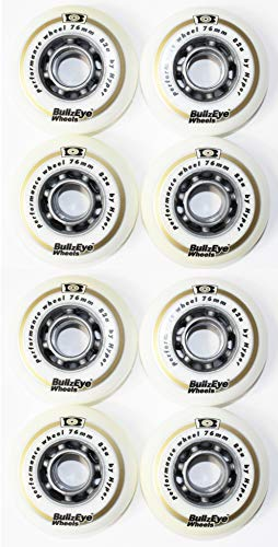 Hyper 8er Set Bullzeye Wheels Rollen Outdoor 76mm 82 A Inliner Skates 18-N 0(8er Rollen Set)