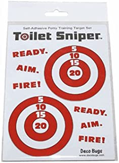 Toilet Sniper Potty Training Self-Adhesive Targets (Red & White)