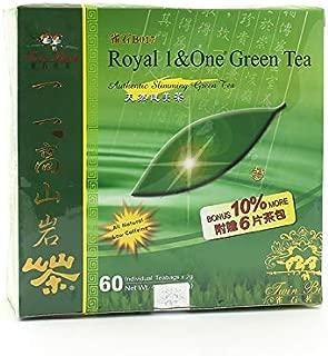 Wing Hop Fung Royal 1 & One Green Tea, Ku Ding Cha, 60 Tea Bags