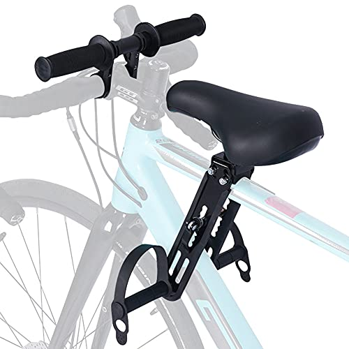 QYLS Kids Bike Seat and Handlebar Accessory Combo Pack - Complete Set | Front Mounted Bicycle Seats for Children 2-5 Years (up to 48 Pound) | Compatible with All Adult MTB