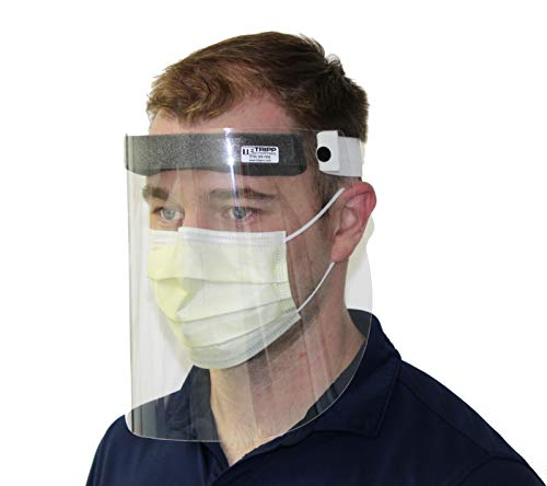 Protective Face Shields 5 Pack, Reusable Full Face and Eye Protection Shields, Made in USA, Safety Visors